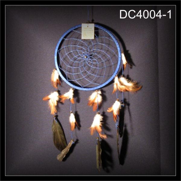 1 ring traumf nger indianer dreamcatcher zwirn blau 22x50cm dc4004 1. Black Bedroom Furniture Sets. Home Design Ideas