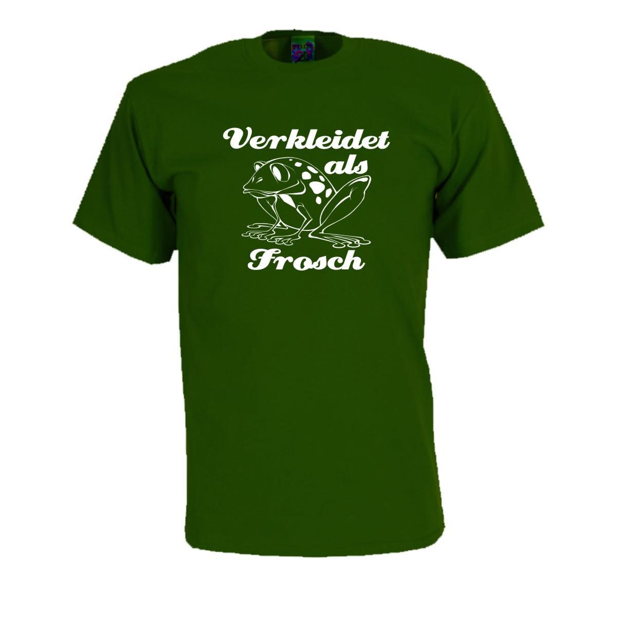 verkleidet als frosch fun shirt fasching t shirt s xxl. Black Bedroom Furniture Sets. Home Design Ideas