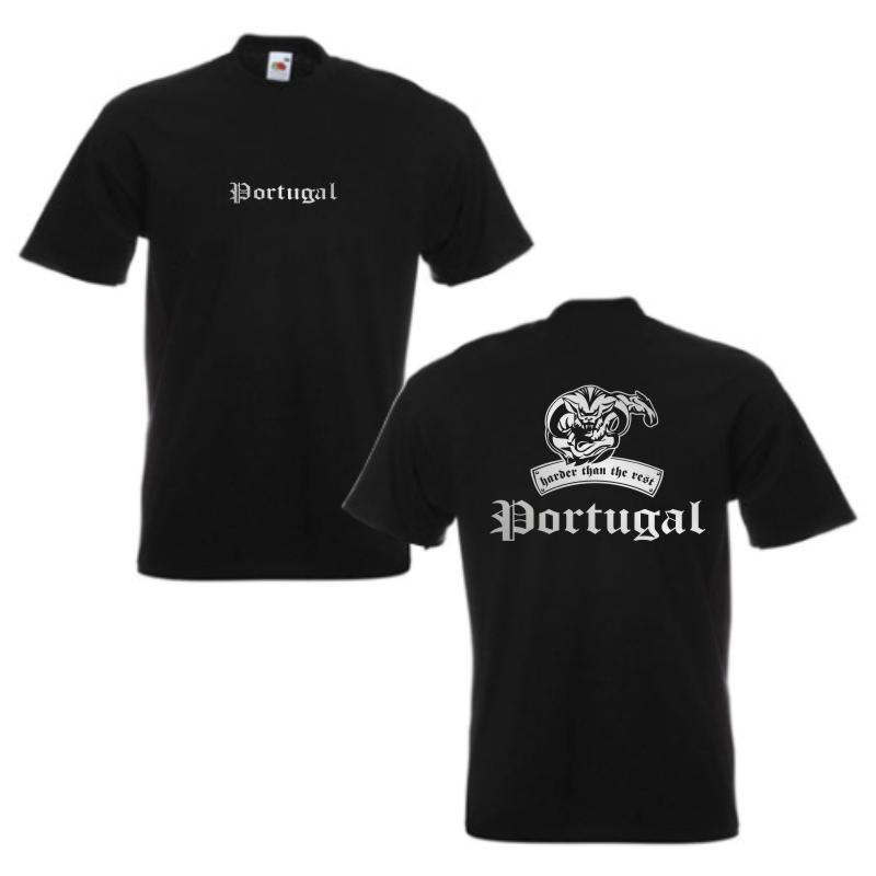 T-Shirt PORTUGAL harder than the rest, S - 12XL (WMS08-49a)