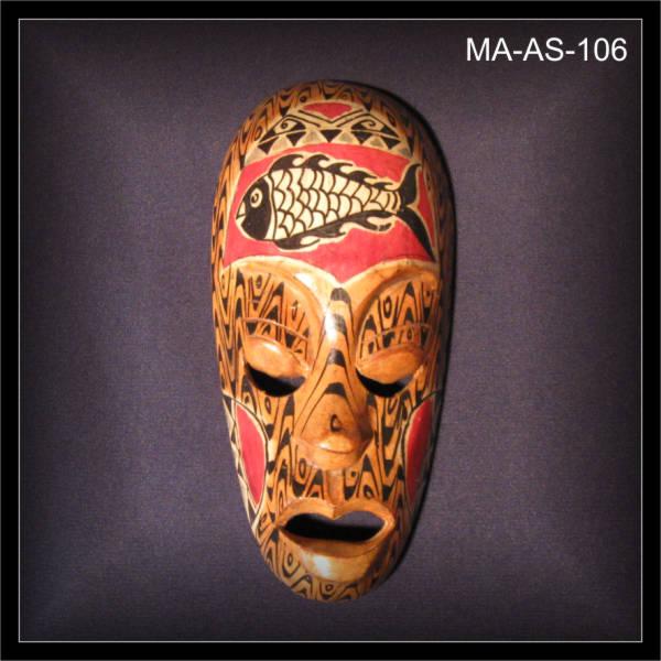 Kleine-Lombok-Wandmaske-beige-19cm-Holz-Schnitzerei-MA-AS-106