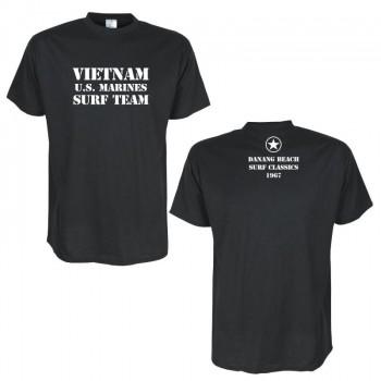 Vietnam Us Surf Team Schwarzes Fun T Shirt Bei Theil Design