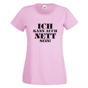 Ich Kann Auch Nett Sein T Shirt Damen Funshirt Bei Theil Design