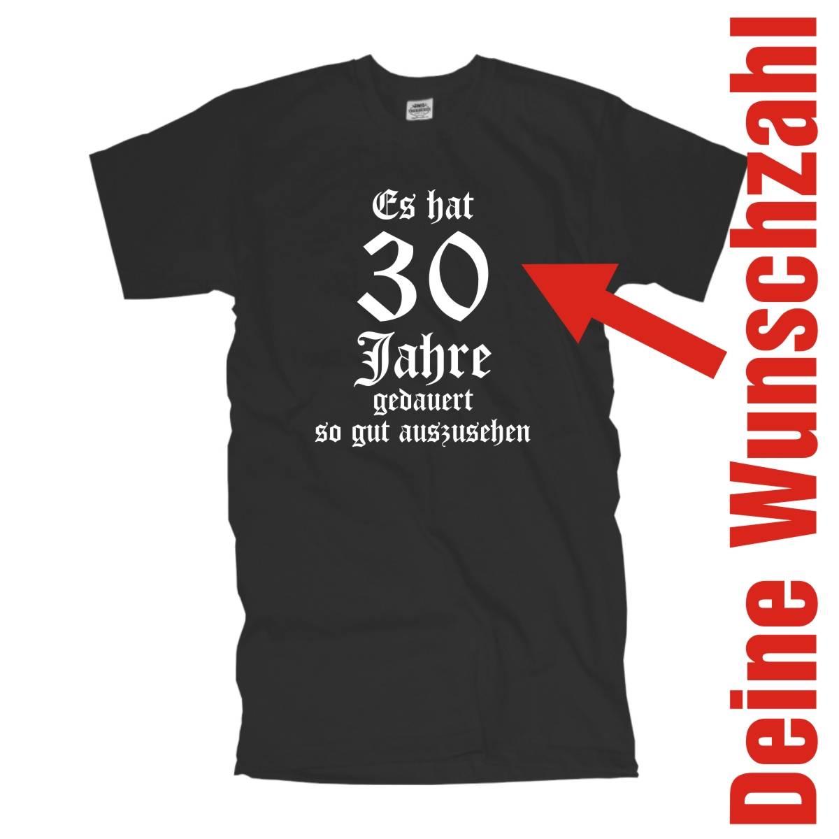 40 Ich bin jetzt Wunschtext Zah 30 50 60 FSG066 Geburtstags Fun T-Shirt