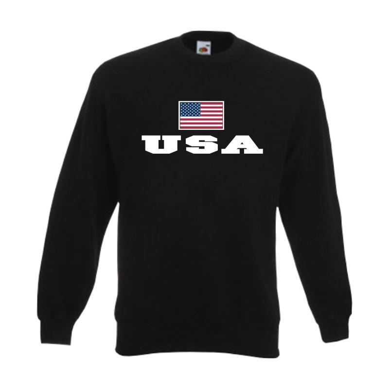 Flagshirt Sweatshirt USA WMS02-71c Fanshirt Pullover Fan Pulli S-6XL