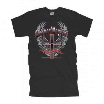 T-Shirt prayer warrior holy cross and wings american fashion shirt USA (ADS0016)