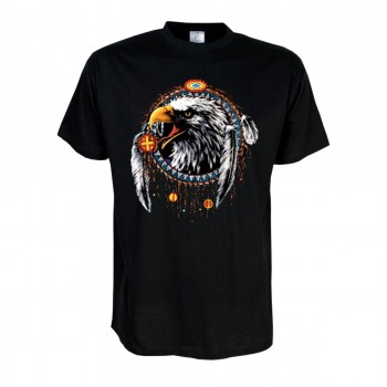 Fun T-Shirt Eagle Dreamcatcher, Indianer Funshirt S - 6XL (AIM00119)
