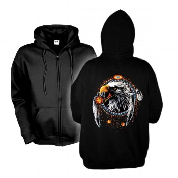 Kapuzenjacke Eagle Dreamcatcher, Indianer Hoodie S - 6XL (AIM00119)