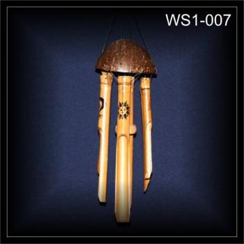 Klangspiel Windspiel Mobile BAMBUS,bemalt 50 cm