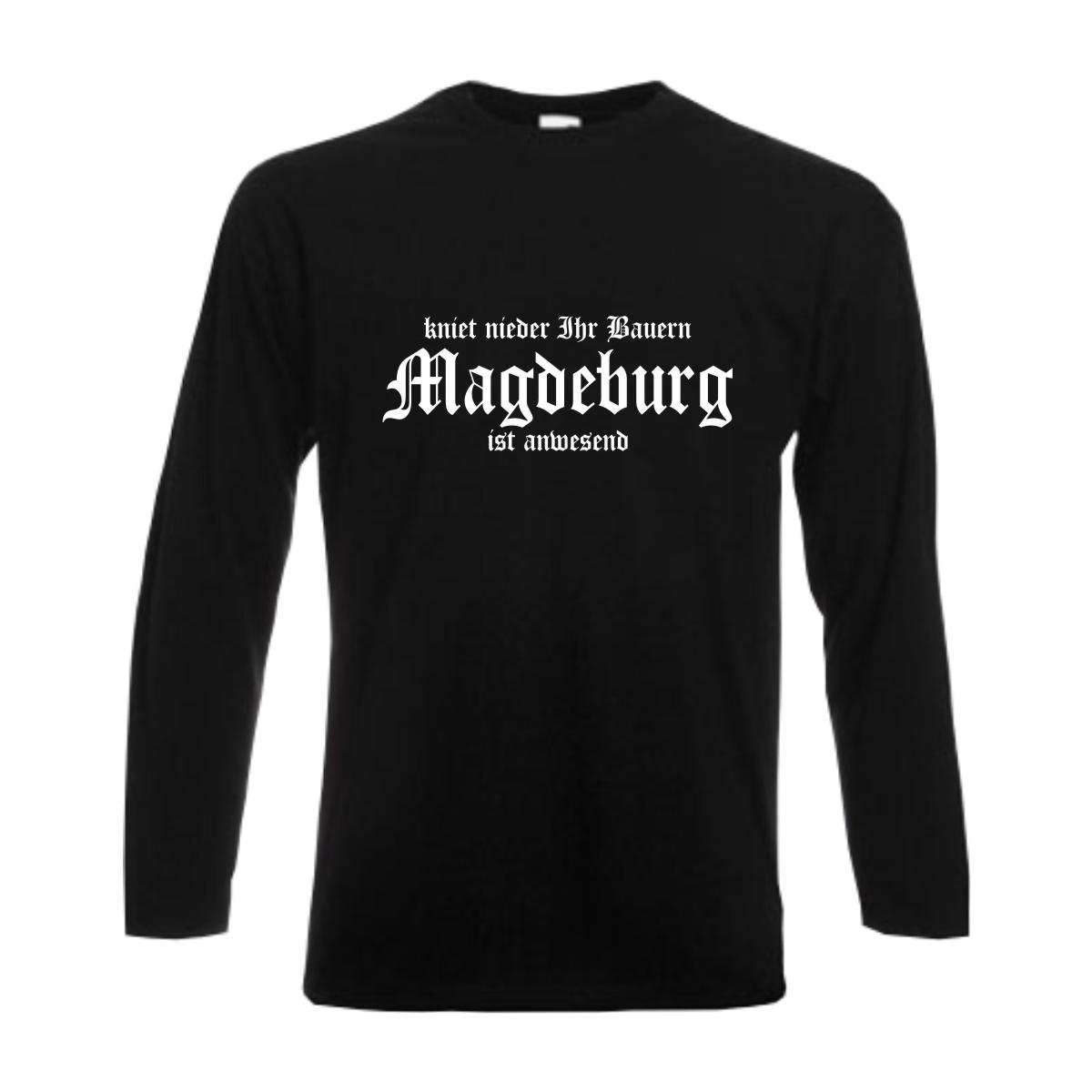 i Love Magdeburg V-T-Shirt mit Städtenamen Damen Stadt Fasching Party Fun